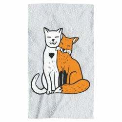 Рушник Fox and cat heart