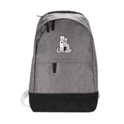Городской рюкзак Fox and cat heart