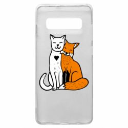 Чохол для Samsung S10+ Fox and cat heart