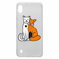Чохол для Samsung A10 Fox and cat heart