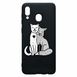 Чохол для Samsung A20 Fox and cat heart