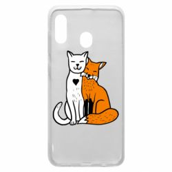 Чохол для Samsung A30 Fox and cat heart