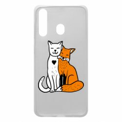 Чохол для Samsung A60 Fox and cat heart
