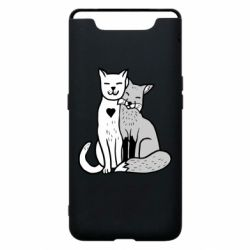 Чохол для Samsung A80 Fox and cat heart