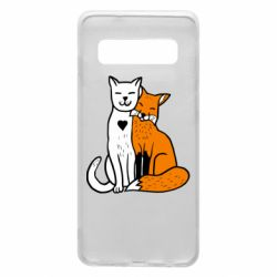Чохол для Samsung S10 Fox and cat heart