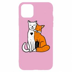 Чохол для iPhone 11 Fox and cat heart