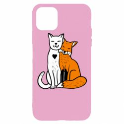 Чохол для iPhone 11 Pro Fox and cat heart