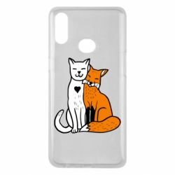 Чохол для Samsung A10s Fox and cat heart