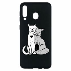 Чохол для Samsung M30 Fox and cat heart