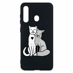 Чохол для Samsung M40 Fox and cat heart