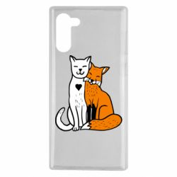 Чохол для Samsung Note 10 Fox and cat heart