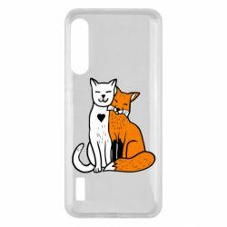 Чохол для Xiaomi Mi A3 Fox and cat heart