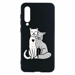 Чохол для Xiaomi Mi9 SE Fox and cat heart
