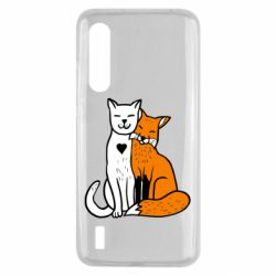 Чохол для Xiaomi Mi9 Lite Fox and cat heart
