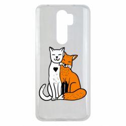 Чохол для Xiaomi Redmi Note 8 Pro Fox and cat heart