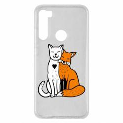 Чохол для Xiaomi Redmi Note 8 Fox and cat heart