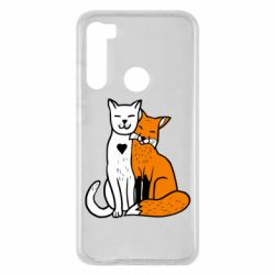 Чехол для Xiaomi Redmi Note 8 Fox and cat heart