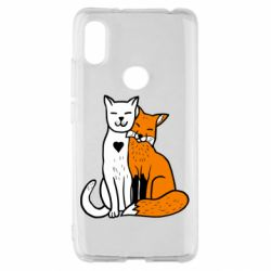 Чохол для Xiaomi Redmi S2 Fox and cat heart