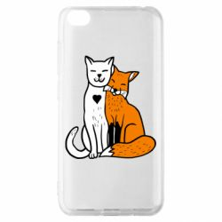 Чохол для Xiaomi Redmi Go Fox and cat heart