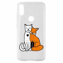 Чохол для Xiaomi Mi Play Fox and cat heart