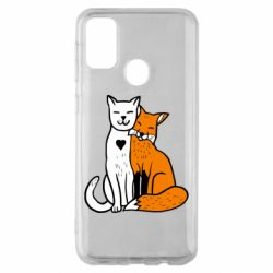 Чохол для Samsung M30s Fox and cat heart