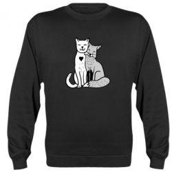 Реглан (світшот) Fox and cat heart