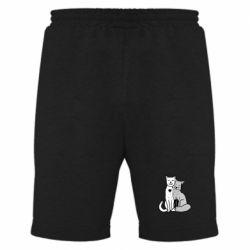 Мужские шорты Fox and cat heart