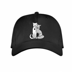 Дитяча кепка Fox and cat heart