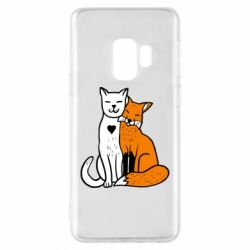 Чохол для Samsung S9 Fox and cat heart