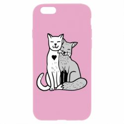 Чохол для iPhone 6/6S Fox and cat heart