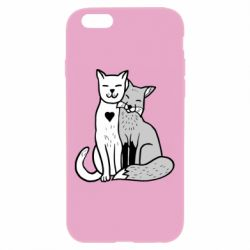Чохол для iPhone 6 Plus/6S Plus Fox and cat heart