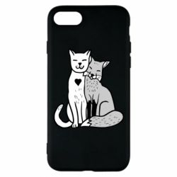 Чохол для iPhone 8 Fox and cat heart