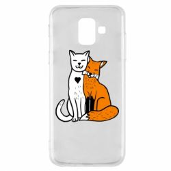 Чохол для Samsung A6 2018 Fox and cat heart