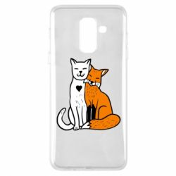 Чохол для Samsung A6+ 2018 Fox and cat heart