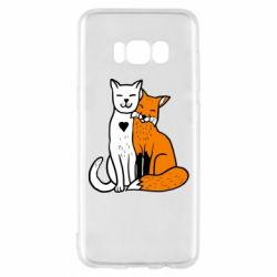 Чохол для Samsung S8 Fox and cat heart
