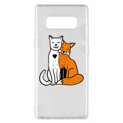 Чохол для Samsung Note 8 Fox and cat heart