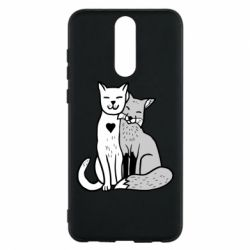 Чохол для Huawei Mate 10 Lite Fox and cat heart - FatLine