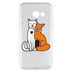 Чохол для Samsung A3 2017 Fox and cat heart