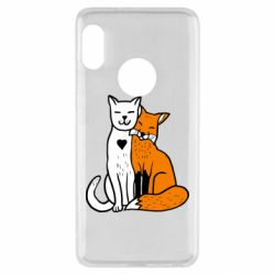 Чехол для Xiaomi Redmi Note 5 Fox and cat heart