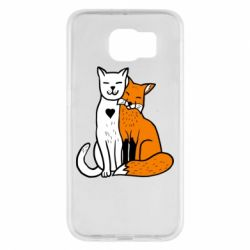 Чохол для Samsung S6 Fox and cat heart