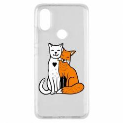 Чохол для Xiaomi Mi A2 Fox and cat heart