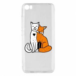 Чехол для Xiaomi Mi5/Mi5 Pro Fox and cat heart