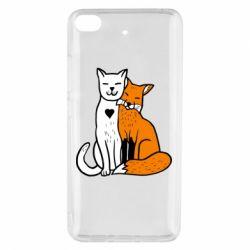 Чехол для Xiaomi Mi 5s Fox and cat heart