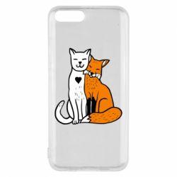 Чохол для Xiaomi Mi6 Fox and cat heart