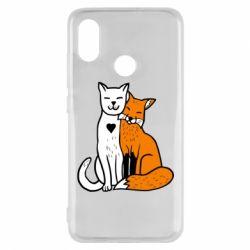 Чехол для Xiaomi Mi8 Fox and cat heart
