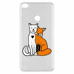 Чехол для Xiaomi Mi Max 2 Fox and cat heart