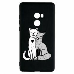 Чехол для Xiaomi Mi Mix 2 Fox and cat heart