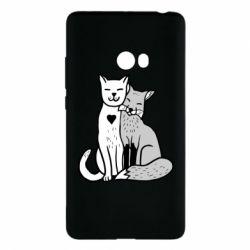 Чохол для Xiaomi Mi Note 2 Fox and cat heart