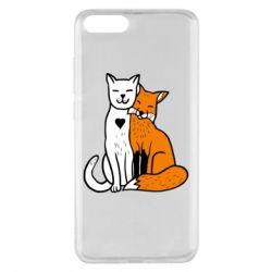 Чохол для Xiaomi Mi Note 3 Fox and cat heart