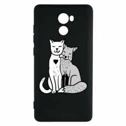 Чохол для Xiaomi Redmi 4 Fox and cat heart - FatLine